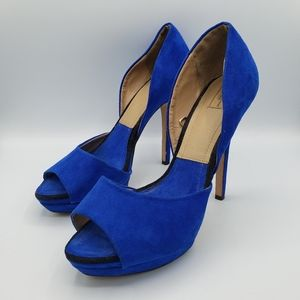 Zara collection by basic cobalt blue peep toe heel